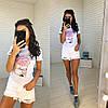 Красивая футболка женская белая с рисунком