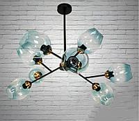 Люстра Молекула стельова Е27 на 9 ламп 19960-9 (чорна), фото 1