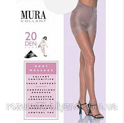 Колготи чорні 20 ден з утяжкою TM Mura Розмір 4