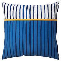 IKEA SANGLARKA Подушка, полоски, синий оранжевый, 50x50 см (004.270.12)