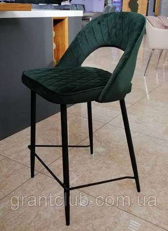 Барний стілець B-125 велюр смарагд Vetro Mebel