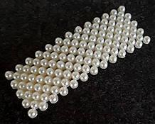 Заколка с жемчугом тик так прямоугольная 7,5х2,7см серебристая