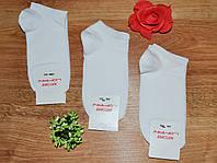 Носки женские короткие однотонные белого цвета р.36-40