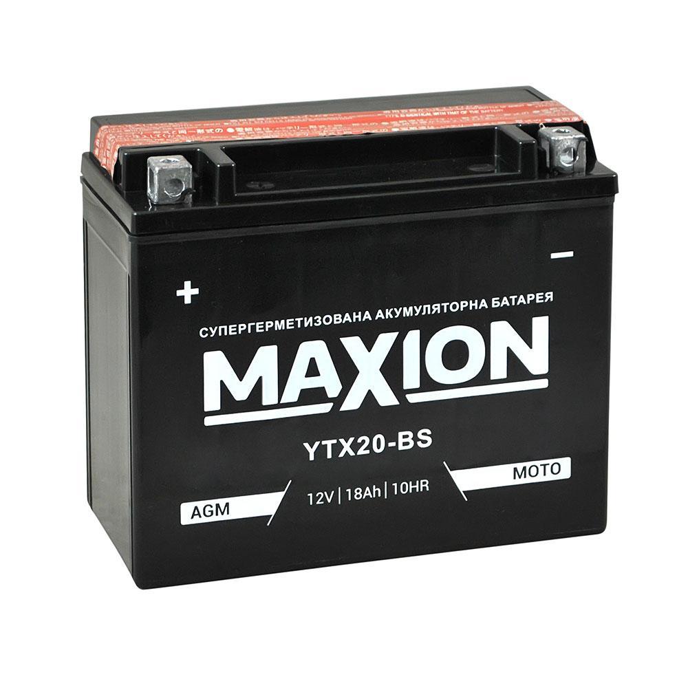 Мото акумулятор AGM MAXION YTX 20-BS (12V, 18A)