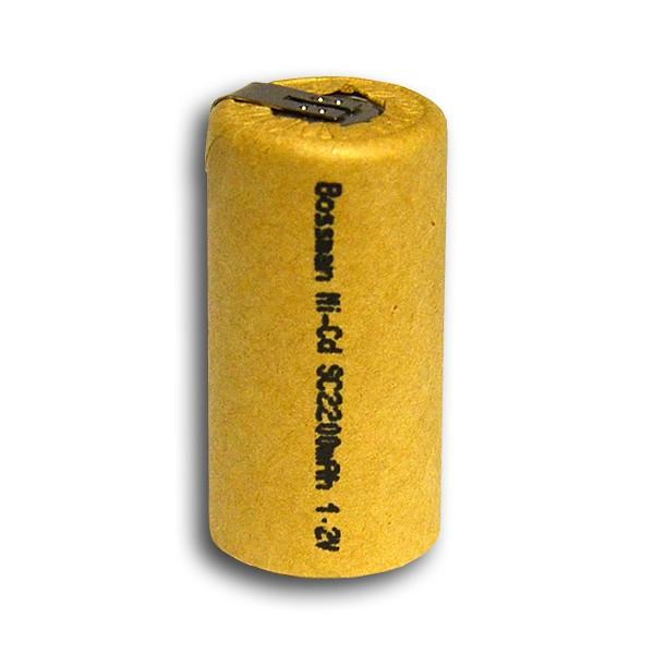 Аккумулятор технический Bossman Profi Sub C/R-14 2200mAh с контактами (SC2200-U)