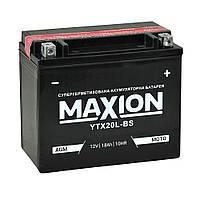 Мото акумулятор AGM MAXION YTX 20L-BS (12V, 18A)