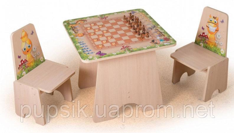 """Игровой столик """"Шахматы"""" Вальтер (цв. светлое дерево)"""