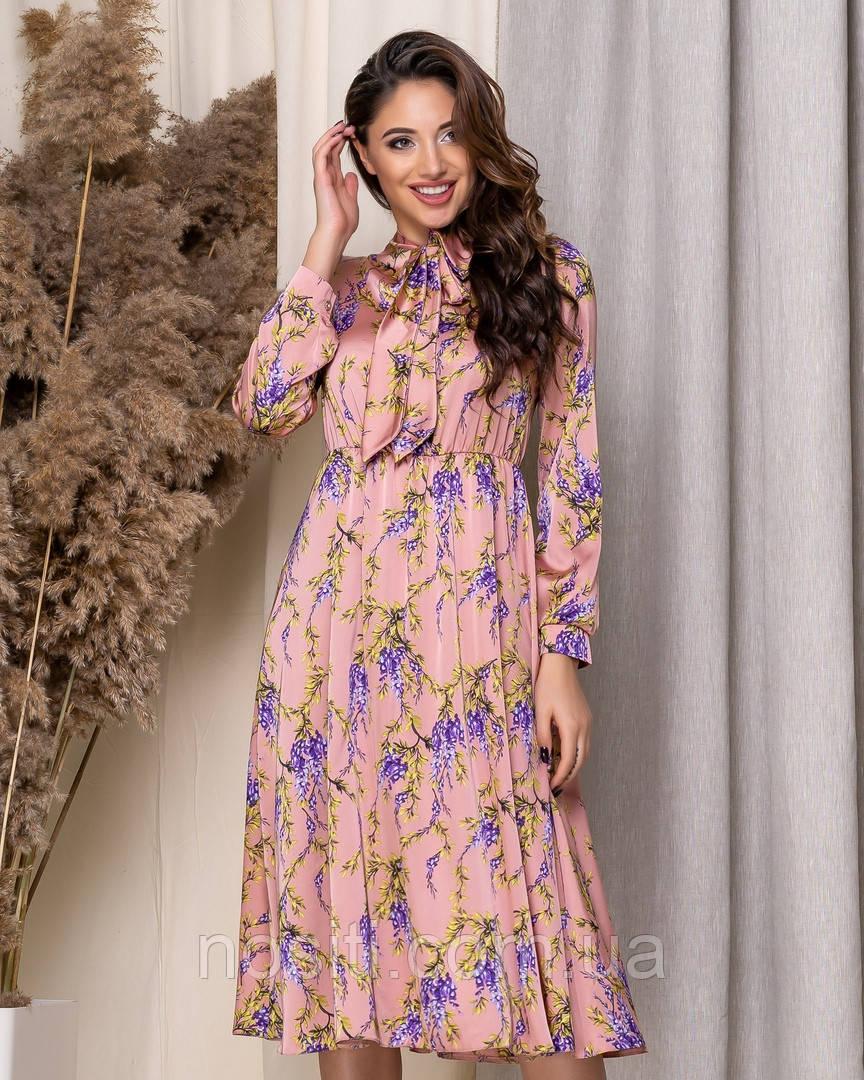 Легкое платье женское в цветок