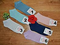 Носки женские короткие однотонные разного цвета р.36-40
