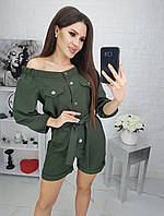 Комбинезон женский с шортами в расцветках  42614