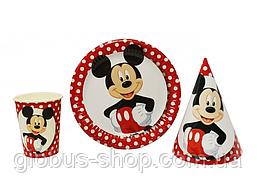 Набор детской бумажной посуды Микки Маус