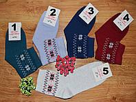 Носки женские высокие с рисунком разного цвета р.36-40