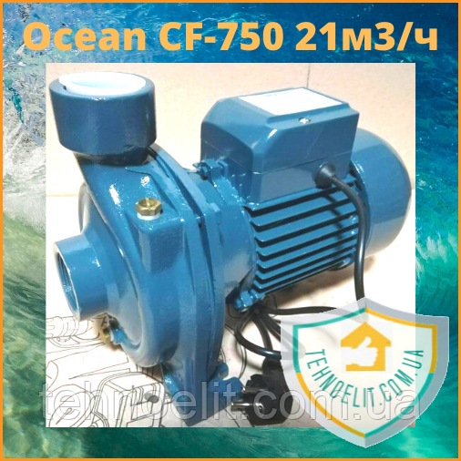 Центробежный поверхностный насос для полива Ocean CF-750.