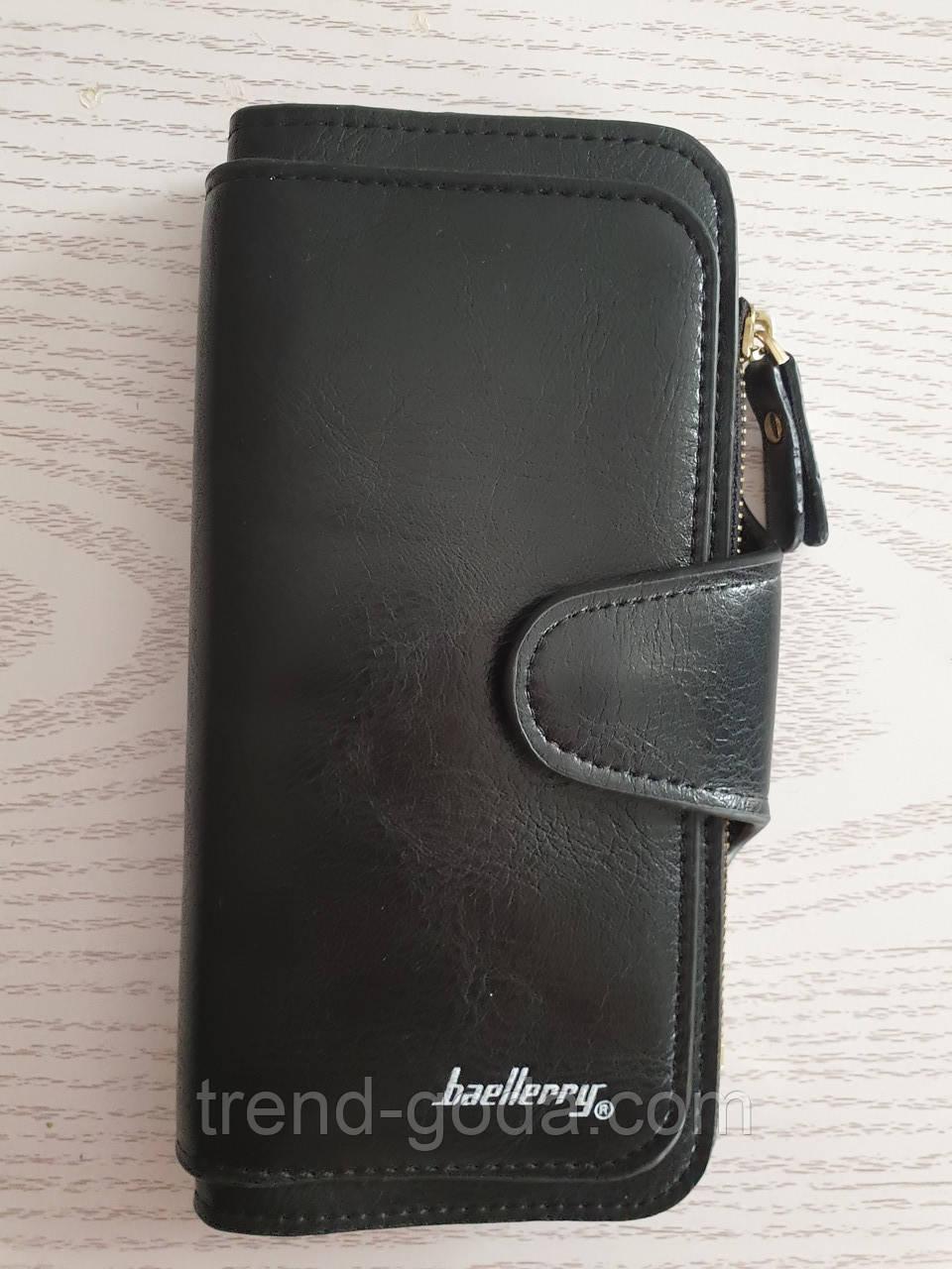 Женский кошелек клатч портмоне Baeller Forever черный