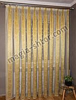 Тюль в спальню органза, оливковая полоса, фото 1