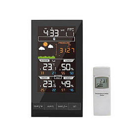 Домашняя метеостанция с выносным датчиком Protmex PT2800 с гигрометром и барометром Черный (100143)
