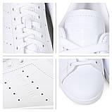 Женские кроссовки Adidas Stan Smith белые White Black, фото 6