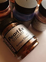 Високоякісні пігменти перламутр Перлекс Pearl Ex Перлекс (США) мідно золотий 661, пробник.