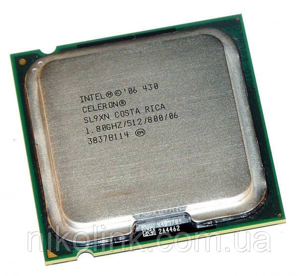 Процесор Intel Celeron 430 1.8 GHz/512K/800MHz s775, (BX80557430), Tray, б/в