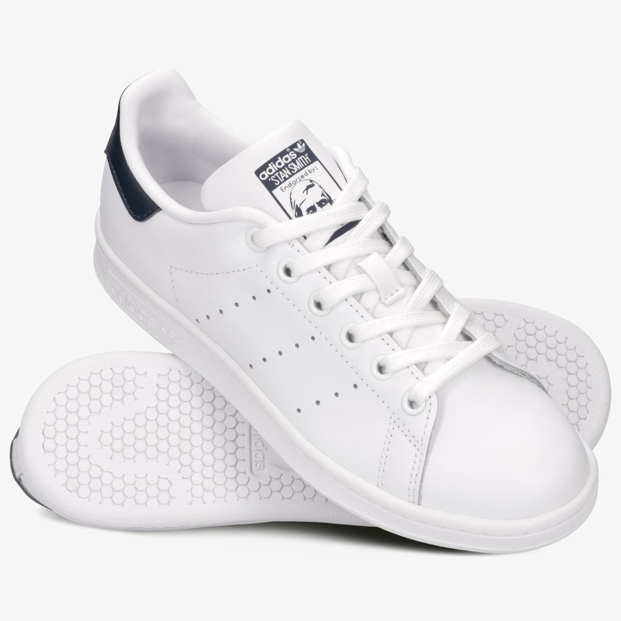 Женские кроссовки Adidas Stan Smith белые White Black