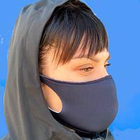 Маска Питта для лица защитная многоразовая синий (унисекс)