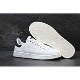 Женские кроссовки Adidas Stan Smith белые White Black, фото 7