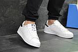 Женские кроссовки Adidas Stan Smith белые White Black, фото 5