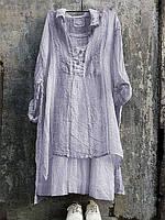 Туніка з тонкого марлевого льону, колір в асортименті розмір 40-72+, фото 1
