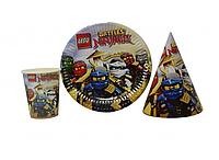 Набор детской бумажной посуды  Ninjago