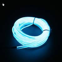 Кристально-Синяя Холодный неон, Неоновая лента 1,2,3,4м. Декоративная подсветка, украшение интерьера.3В,5В,12В