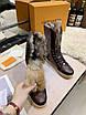 Высокие коричневые ботинки Louis Vuitton монограмм на шнуровке, фото 2