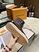 Высокие коричневые ботинки Louis Vuitton монограмм на шнуровке, фото 4