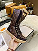 Высокие коричневые ботинки Louis Vuitton монограмм на шнуровке, фото 6