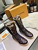 Высокие коричневые ботинки Louis Vuitton монограмм на шнуровке, фото 7