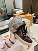 Высокие коричневые ботинки Louis Vuitton монограмм на шнуровке, фото 8