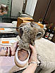 Высокие бело-коричневые ботинки Louis Vuitton на шнуровке, фото 6