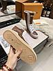 Высокие бело-коричневые ботинки Louis Vuitton на шнуровке, фото 8