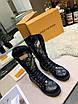 Высокие черные ботинки Louis Вюиттон монограмм на шнуровке, фото 2