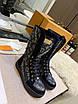 Высокие черные ботинки Louis Вюиттон монограмм на шнуровке, фото 7