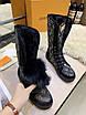 Высокие черные ботинки Louis Вюиттон монограмм на шнуровке, фото 8