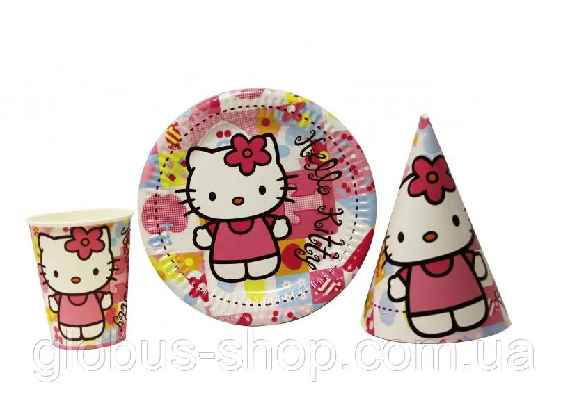 Набор детской бумажной посуды  Китти