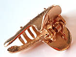 Краб металлический маленький 3,5х2 см, золотистый, фото 2