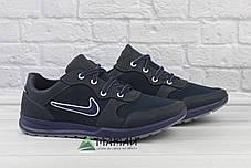 Кросівки чоловічі сітка сині, фото 3