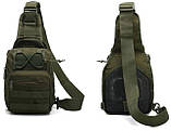 Сумка-рюкзак штурмовая тактическая Battler v.2 NAH00241 Темно-зеленый (tau_krp390_00241), фото 2