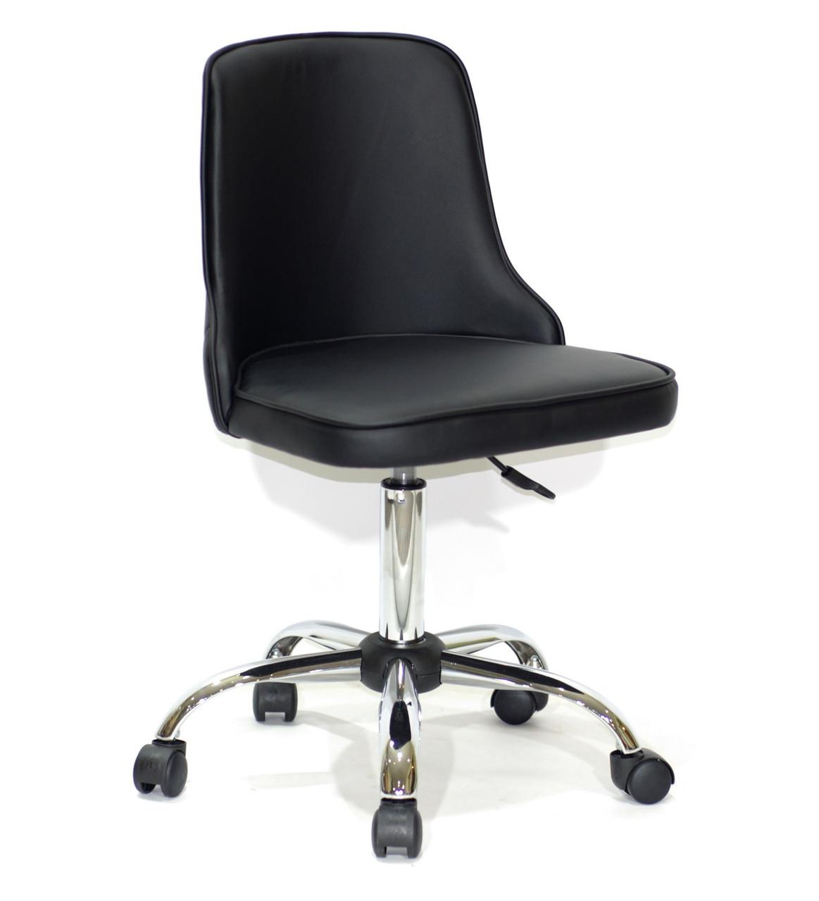 Кресло офисное  на колесах  ADAM  СН-OFFICE  экокожа, черный