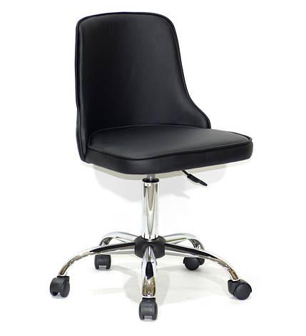 Кресло офисное  на колесах  ADAM  СН-OFFICE  экокожа, черный, фото 2