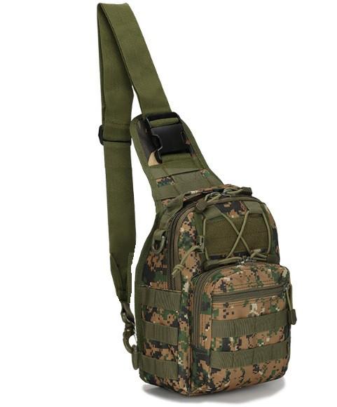 Сумка-рюкзак штурмовая тактическая Battler v.2 SD00241 Цифра Зеленый (tau_krp390_00241fd)