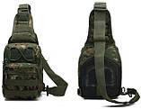 Сумка-рюкзак штурмовая тактическая Battler v.2 SD00241 Цифра Зеленый (tau_krp390_00241fd), фото 2