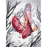 Набор для вышивки крестом ТМ Овен Золотые рыбки РК-018о