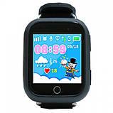 Детские умные часы-телефон с GPS трекером Smart Watch Q100 Чёрные, фото 3